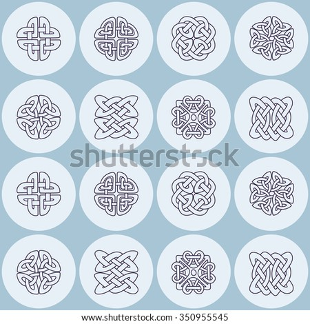 Seamless background with Celtic geometric ornament for your design - stock vector