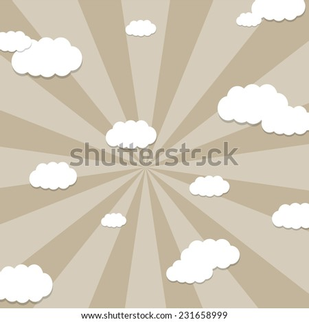 seamless background with clouds. Great for Greeting Cards, gift wrap, surface textures.