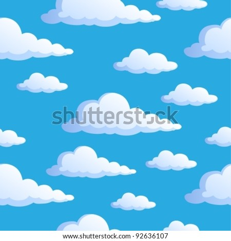 Seamless background with clouds 1 - vector illustration.