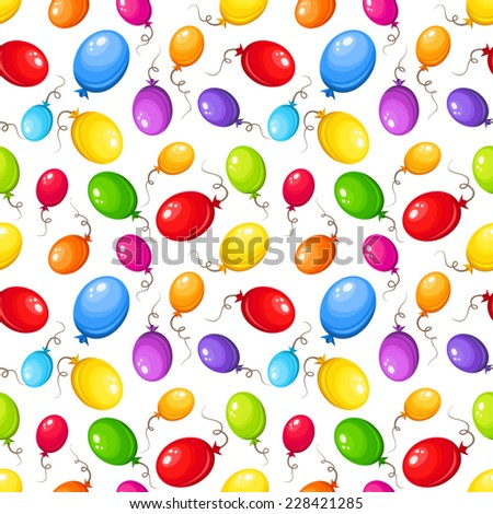 Seamless background with colorful balloons. Vector illustration. - stock vector