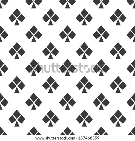 seamless background with cross game suit on a white background - stock vector