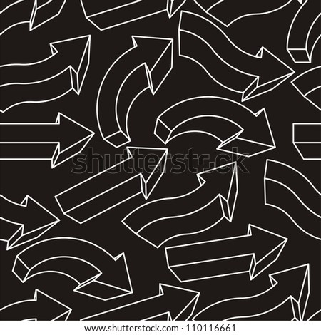 Seamless background with different arrows. Vector illustration - stock vector