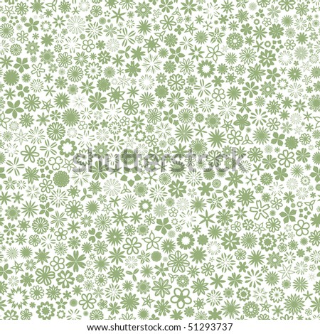 Seamless background with flowers. - stock vector