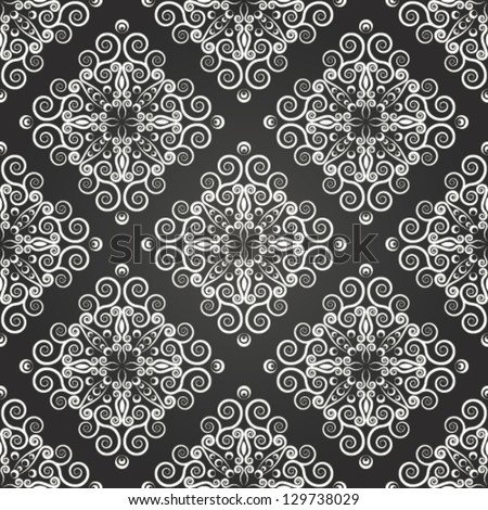 Seamless background with gray ornaments. EPS 10. - stock vector