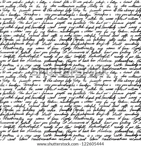 seamless background with handwritten letter