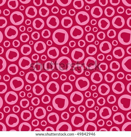 Seamless background with heart. - stock vector
