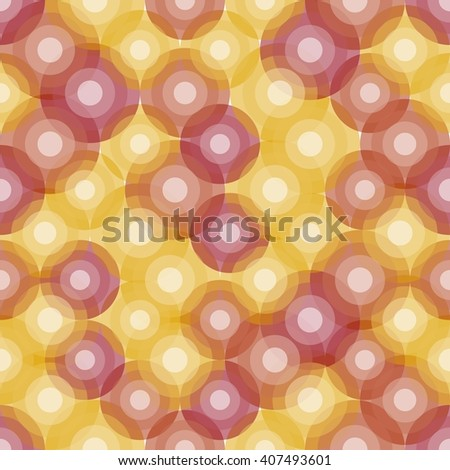 Seamless background with hot bubbles. Stylized atom structure - stock vector