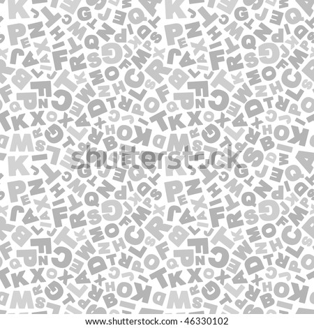 Seamless background with letter - stock vector