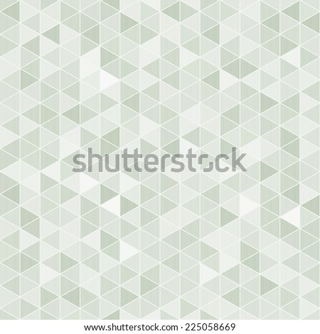 Seamless background with light green rhombuses  - stock vector
