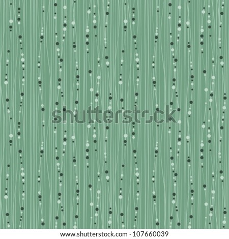 seamless background with lines & beads - stock vector