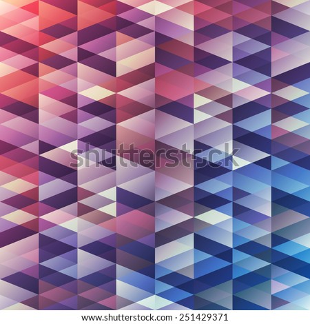Seamless background with many triangles - stock vector