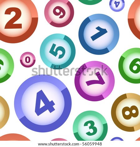Seamless background with numbers - stock vector