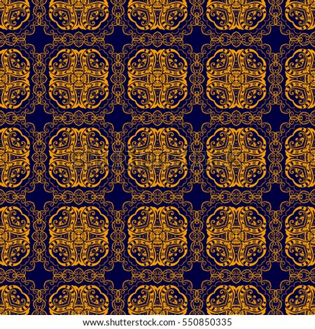 Seamless background with ornament. Geometric pattern. Wallpaper pattern