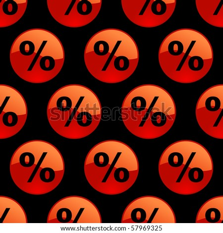 Seamless background with percent symbol. - stock vector