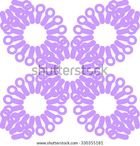 Seamless background with purple snowflakes. Vector illustration. - stock vector