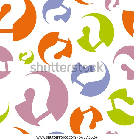 Seamless background with question. - stock vector