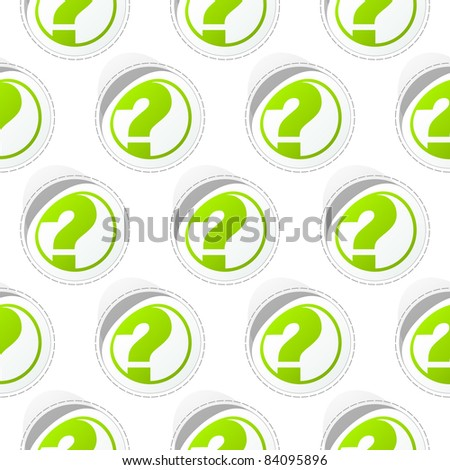 Seamless background with questions. - stock vector