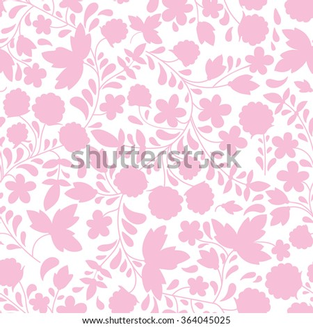 Seamless background with raspberry. Vector illustration. the silhouette of the plants - stock vector