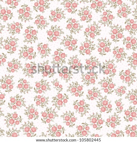 Seamless background with roses - stock vector
