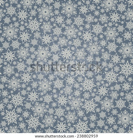 Seamless background with snowflakes