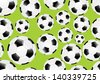 Seamless Background with soccer balls. - stock vector