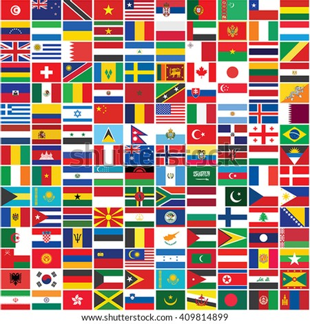 seamless background with some of world flags vector illustration