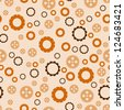 Seamless background with steampunk gears. - stock photo