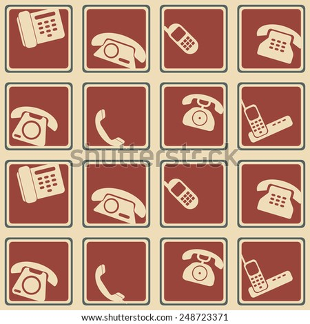 seamless background with telephone icons for your design