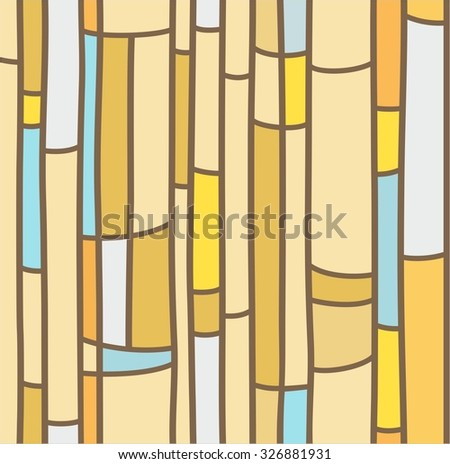 Seamless background, yellow stained glass. Abstract, seamless pattern, similar to stained glass. For printing and decorating.   - stock vector