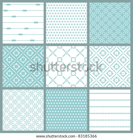 Seamless backgrounds Collection - Vintage Tile - stock vector