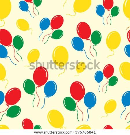 Seamless Balloon Pattern - stock vector