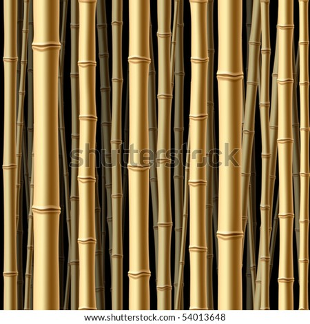 Seamless bamboo forest. Vector. - stock vector