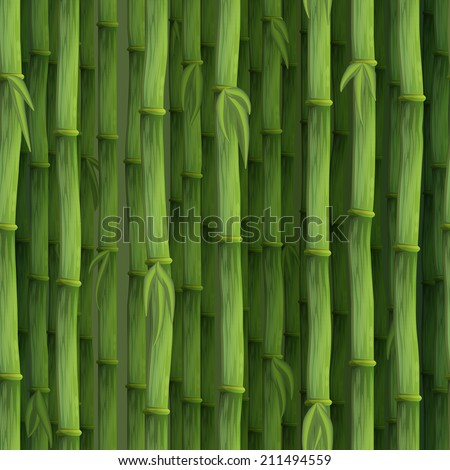 Seamless Bamboo Pattern Seamless Bamboo Pattern For
