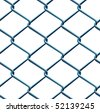 Seamless barbed wire pattern under bright day light - stock photo