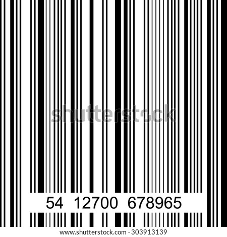 Seamless barcode vector pattern. Black, white.  Backgrounds & textures shop.