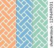 Seamless Basket Weave Background Pattern - stock vector
