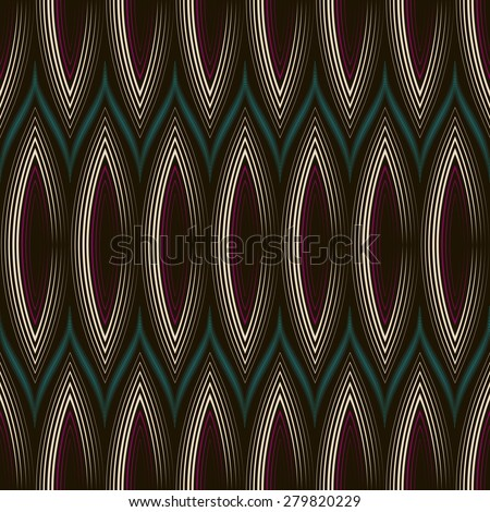 Seamless beautiful art deco pattern ornament. Geometric background design. Vector repeating texture.