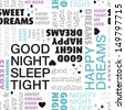 Seamless bedroom sleep good night dream tight background pattern in vector - stock photo