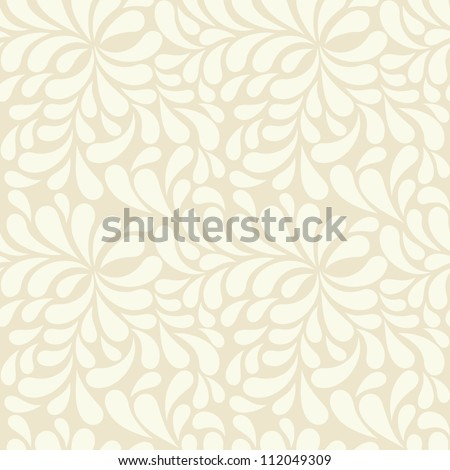 seamless beige drops pattern - stock vector