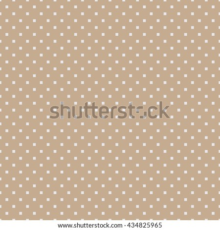 Seamless beige square polka dots pattern vector