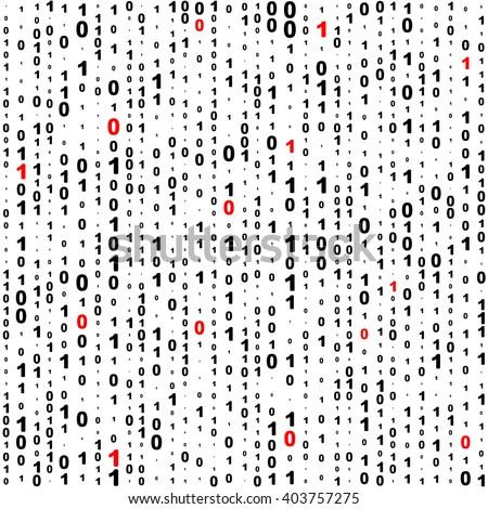 Seamless Binary Code Background. Vector Regular Texture - stock vector