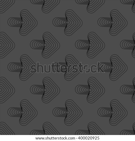 Seamless black and white abstract pattern from arrows - stock vector