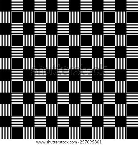 Seamless black and white checkered pattern  - stock vector