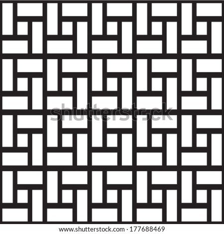 Seamless black and white cubes - stock vector