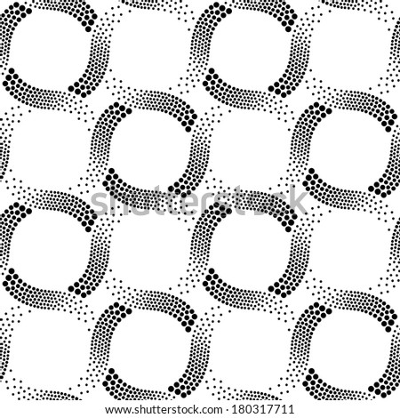 seamless black and white dotted pattern - stock vector