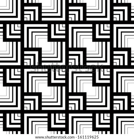 Seamless black and white pattern, simple vector stripes geometric background, accurate, editable and useful background for design or wallpaper. - stock vector