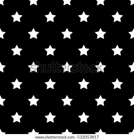 Seamless Black And White Stars Background