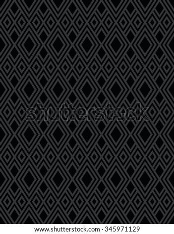 Seamless black diamond background pattern shape design - stock vector