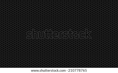 Seamless black honeycomb background vector - stock vector