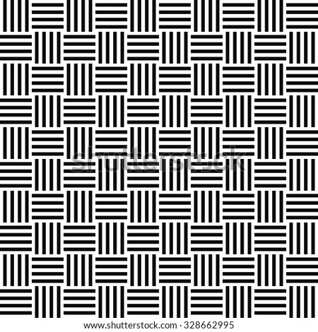 Seamless black white stripe pattern